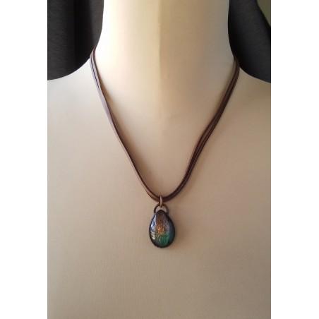 Smoky Quartz  Blue Chalcedony Necklace